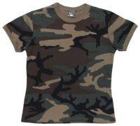 Женская армейская футболка US woodland