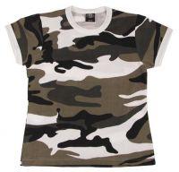 Женская армейская футболка US urban камуфляж