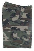 US BDU мужские шорты милитари Ripstop woodland-stonewashed