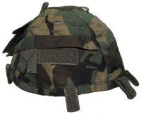 Чехол для каски с карманами, Helmetcover, камуфляж woodland