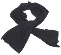 Флисовый шарф 160x25 см, черный
