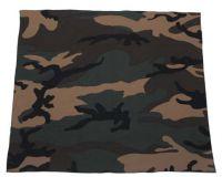 Бандана 55 x 55 см, хлопок, камуфляж woodland вудленд
