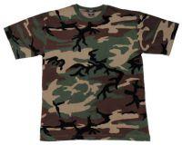 Детская футболка милитари с коротким рукавом, woodland