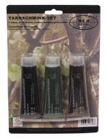 Камуфляжная краска для лица 3 цвета - черный, зеленый, коричневый