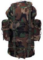 Военный рюкзак 65 литров, камуфляж woodland