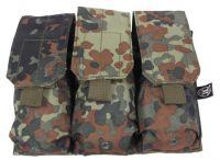 Подсумок для трёх магазинов Triple mag pouch, камуфляж бундесвер BW camo