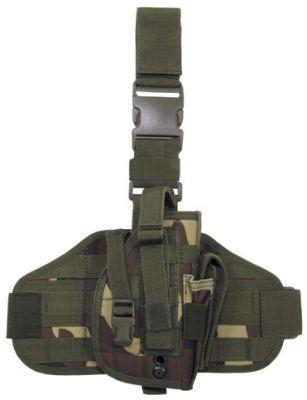 """Тактическая кобура  """"Molle """", для крепления на ноге и поясе, камуфляж вудланд woodland - Интернет-магазин..."""