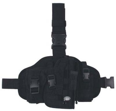 Тактическая кобура, для кремления на ноге и поясе, черная.