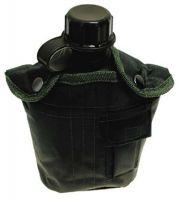 США пластиковая фляга 1 литр, с нейлоновым чехлом OD green