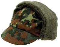 Армейская оригинальная зимняя шапка Бундесвер, BW camo